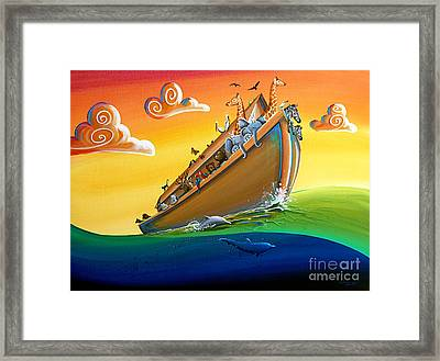 Noah's Ark - Journey To New Beginnings Framed Print by Cindy Thornton