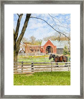 Framed Print featuring the painting Journey To The Village by Ike Krieger