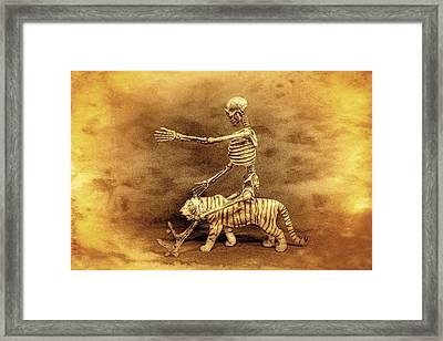 Journey With A Tiger Framed Print by Jeff  Gettis