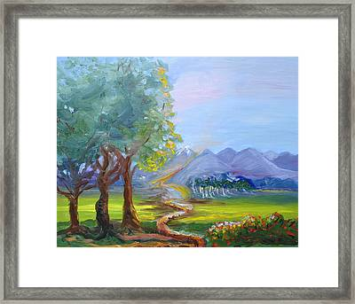 Journey With God  Framed Print by Patricia Kimsey Bollinger