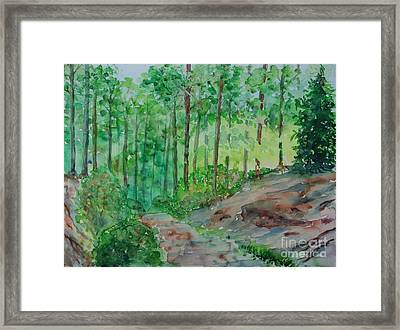 Framed Print featuring the painting Journeys End?  by Alfred Motzer