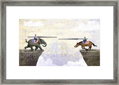 Jousting Framed Print