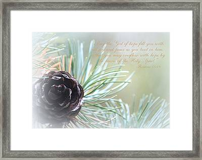 Joy And Peace Framed Print by The Art Of Marilyn Ridoutt-Greene