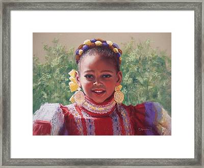 Joy Framed Print by Cecile Houel