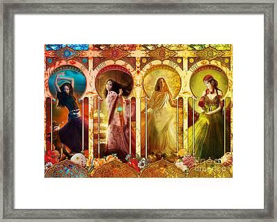Joy Faith Hope Love Framed Print