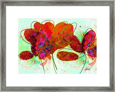 Joy Flower Abstract Framed Print by Ann Powell