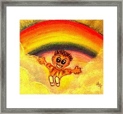Joy Framed Print by Hazel Holland