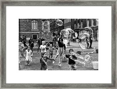 Joy In Hamburg Mono Framed Print by John Rizzuto