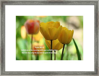 Joy Comes In The Morning Framed Print by Lynn Hopwood