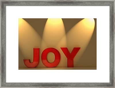 Joy Framed Print by Leah Hammond