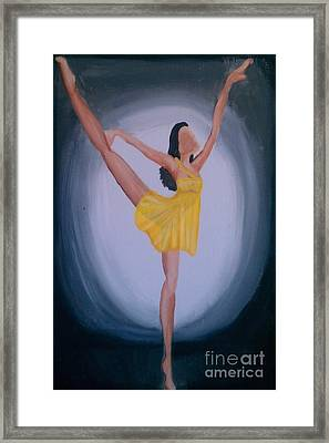 Framed Print featuring the painting Joy by Marisela Mungia