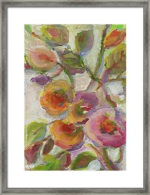 Framed Print featuring the painting Joy by Mary Wolf