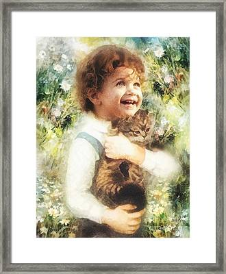 Joy Framed Print by Mo T