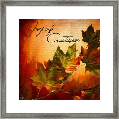 Joy Of Autumn Framed Print by Lourry Legarde