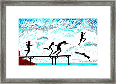 Joy Of Freedom-d Framed Print by Anand Swaroop Manchiraju
