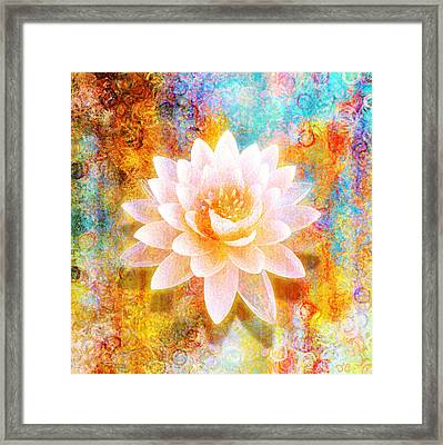 Framed Print featuring the mixed media Joy Of Life by Jaison Cianelli