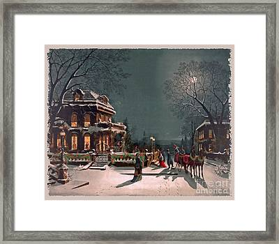 Joy Of The Season Framed Print by Lianne Schneider