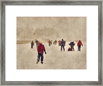 Joy Of Winter Framed Print