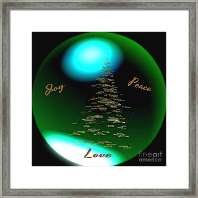 Joy Peace Love Framed Print by Gail Matthews
