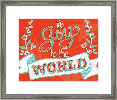 Joy To The World Framed Print