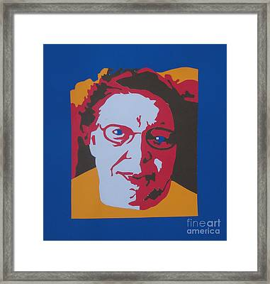 Joyce's Portrait Framed Print by PainterArtist FINs husband Maestro