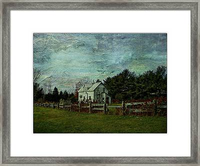 Joyful Country Life  Framed Print by Dianne  Lacourciere