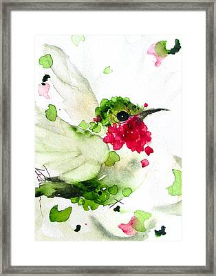 Joyful Flight Framed Print by Dawn Derman