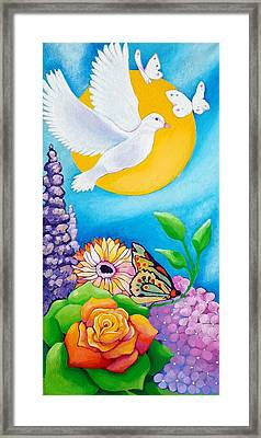 Joyful Garden #1 Right Panel Framed Print