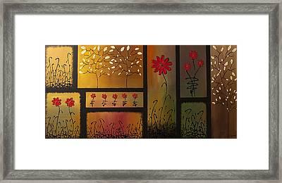 Joyful Garden Framed Print by Carmen Guedez