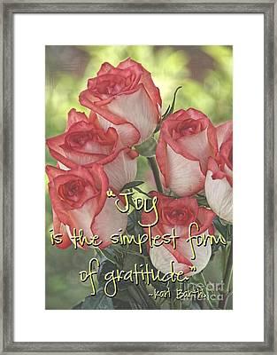 Joyful Gratitude Framed Print