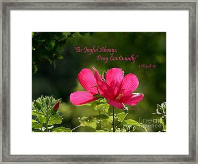 Joyful Hibiscus Garden Framed Print by Nava Thompson