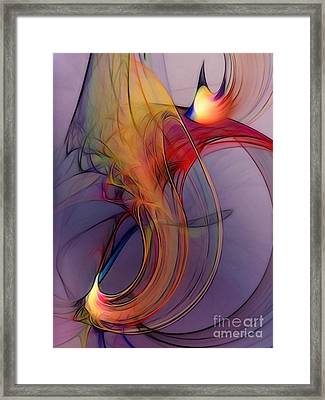 Joyful Leap-abstract Art Framed Print by Karin Kuhlmann