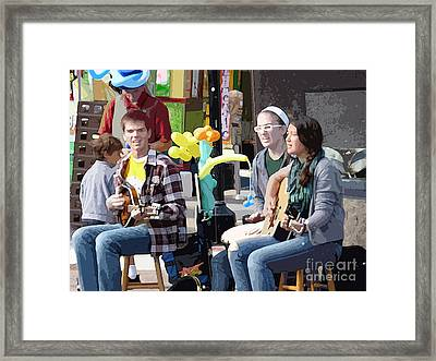 Joyful Noise Framed Print by David Bearden