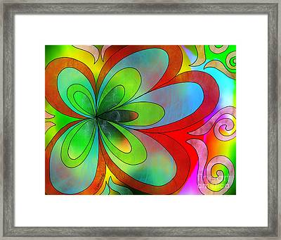 Joyful Peace - Paix Joyeuse Framed Print by Louise Lamirande
