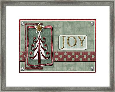 Joyful Tree Card Framed Print by Arline Wagner