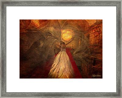 Framed Print featuring the digital art Joyous Bride by Kylie Sabra