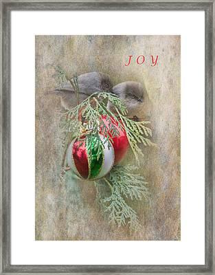 Joyous Bushtits Framed Print