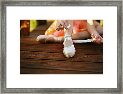 Joy's Soul Lies In The Doing Framed Print by Laura Fasulo