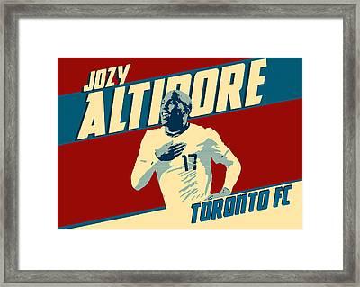 Jozy Altidore Framed Print by Taylan Apukovska
