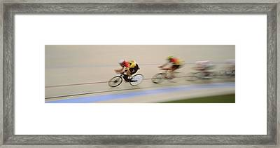 J.puddifoot 845-6x17, Racing Cyclists Framed Print by Jason Puddifoot