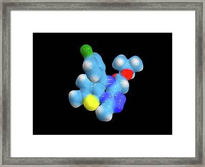 Jq1 Experimental Drug Molecule Framed Print
