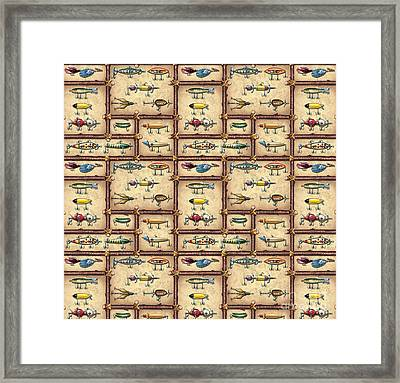 Jqw Fish Sticks Pillow Framed Print
