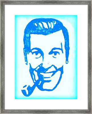 J.r. Bob Dobbs Pop Art Church Subgenius Framed Print by Bob Baker