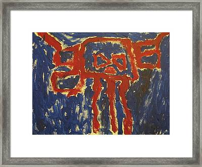 Framed Print featuring the painting J's Interpretation by Barbara Yearty