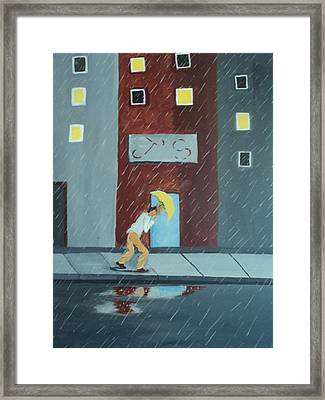 Framed Print featuring the painting J.'s by Justin Lee Williams