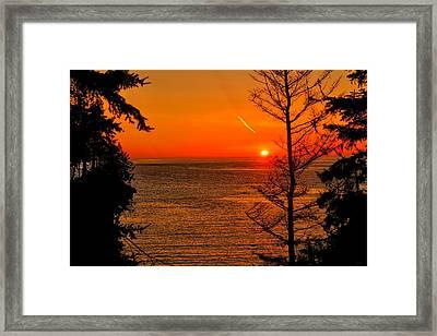 Juan De Fuca Sunset Framed Print