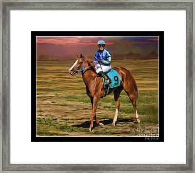 Juan Hermandez On Horse Atticus Ghost Framed Print by Blake Richards