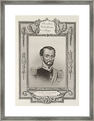 Juan Lavalle Framed Print by British Library