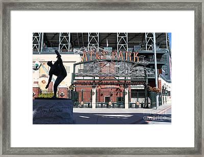 Juan Marichal At San Francisco Att Park . 7d7640 Framed Print by Wingsdomain Art and Photography