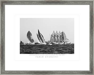 Framed Print featuring the photograph Juan Sebastian Elcano Departing The Port Of Cadiz by Pablo Avanzini